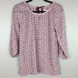 Matilda Jane pink floral textured blouse